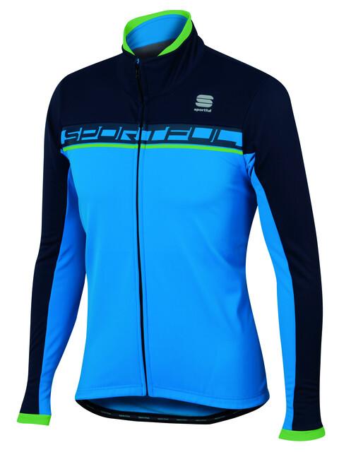 Sportful Giro Softshell Jacket Men electric blue/black iris/green